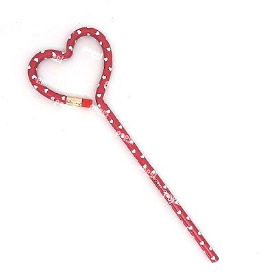 Lápis Preto Love Heart Vermelho