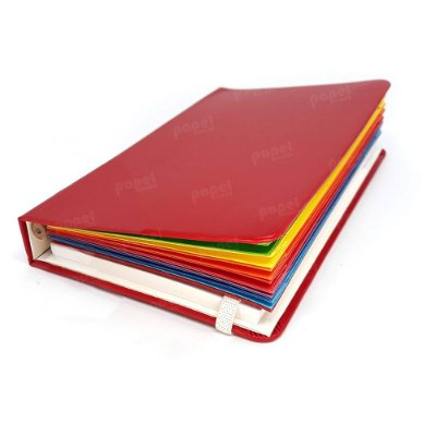 Caderneta Vermelha c/ Pasta Sanfonada
