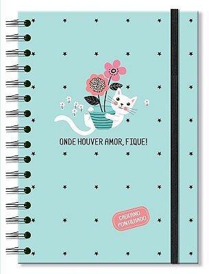Caderno Midi Pontilhado Gatos