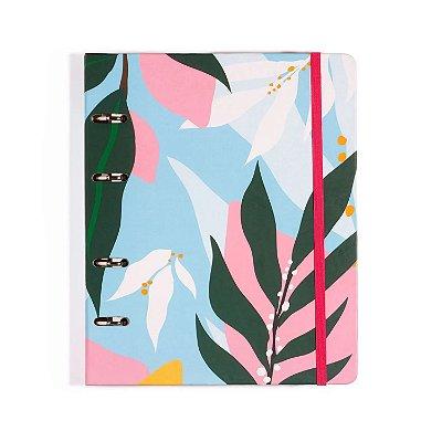 Caderno Fichário 4 Furos Azul