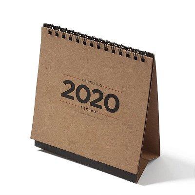 Calendário de Mesa Pequeno 2020 Kraft