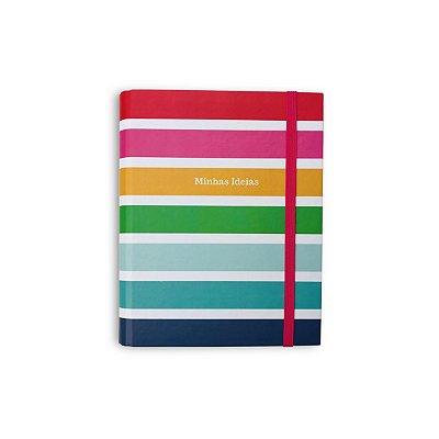 Mini Caderno Fichário Arco-Íris