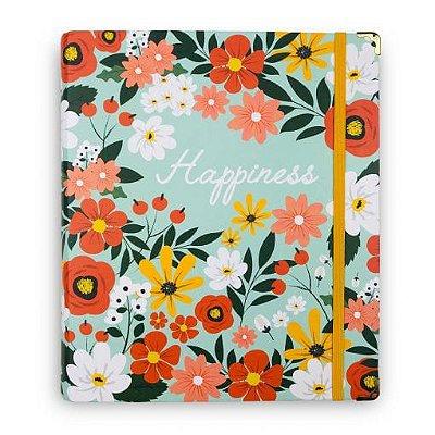 Caderno Fichário Happiness Flores