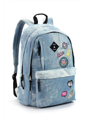 Mochila Patches Jeans