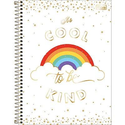 Caderno Espiral 80 Folhas Arco Íris