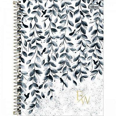 Caderno 160 Folhas Preto e Branco Folhas