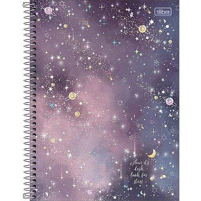 Caderno Espiral 160 Folhas Magic Estrelas