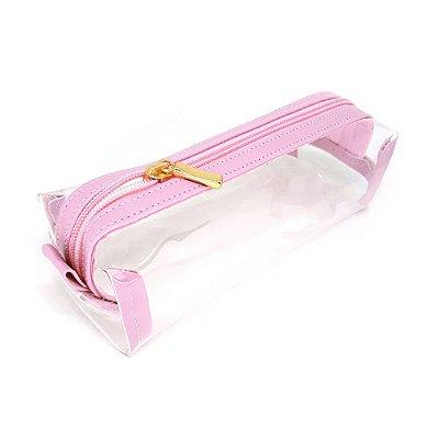 Estojo Cristal Rosa Pastel