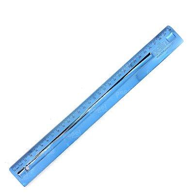 Régua 30cm MetalizadaAzul