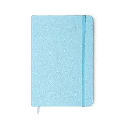 Caderneta Pontilhada Azul Pastel