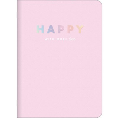 Caderninho Happy Rosa Pastel Médio