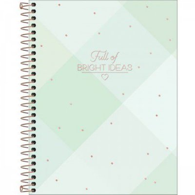 Caderno Soho Verde Pastel 160 Folhas