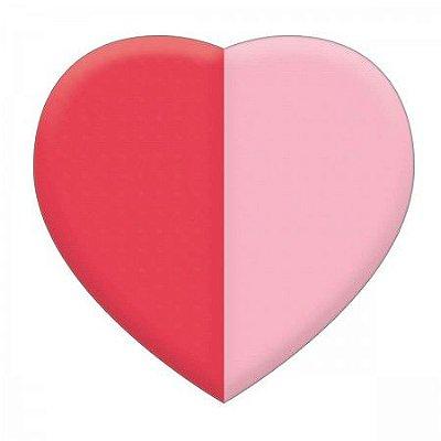 Borracha Coração Vermelho e Rosa