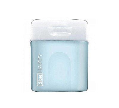 Mini Apontador Happy Azul Pastel