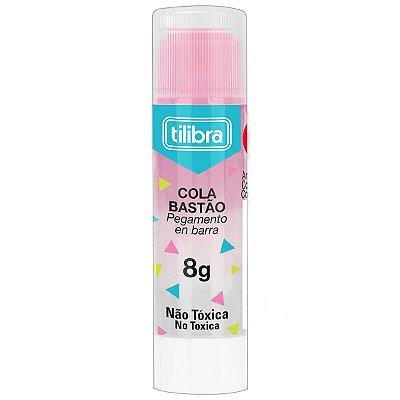 Cola Bastão Transparente 8g Rosa