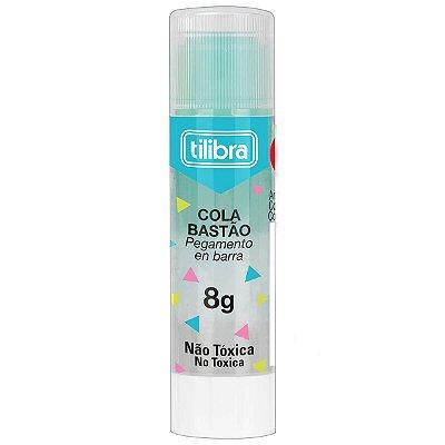 Cola Bastão Transparente 8g Azul