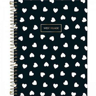 Caderno West Village Corações 1 Matéria