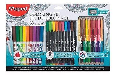 Conjunto de Colorir 33 Peças