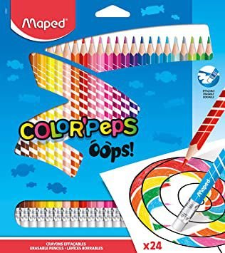 Lápis Color' Peps Oops Apagável 24 Cores