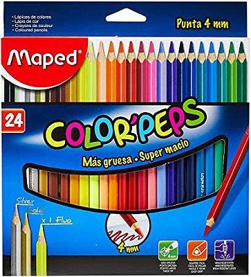 Conjunto de Lápis Color' Peps Ponta 4mm 24 Cores
