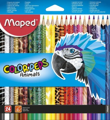 Conjunto de Lápis Color' Peps Animals 24 Cores
