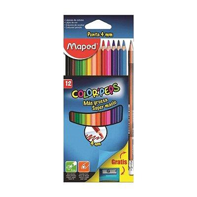 Conjunto Lápis Color' Peps Ponta 4mm 14 Peças
