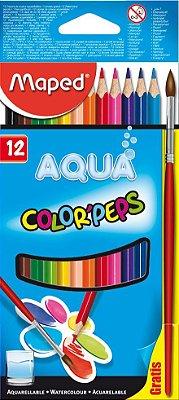 Conjunto de Lápis Color' Peps Aquarelável 12 Cores
