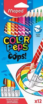 Lápis Color' Peps Oops 12 Cores