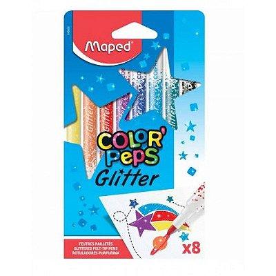 Conjunto Canetinha Hidrográfica Color' Peps Glitter