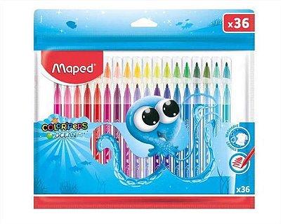 Canetinhas Hidrocor Color' Peps Ocean 36 Cores