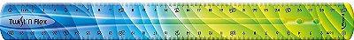 Régua Flexível 30cm Twist Verde e Azul