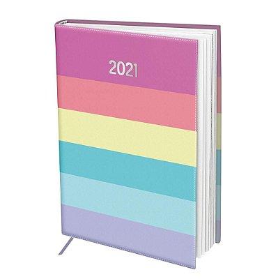 Agenda Diária 2021 Listrada Colorida