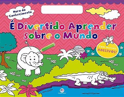 Livro de Colorir É Divertido Aprender Sobre O Mundo