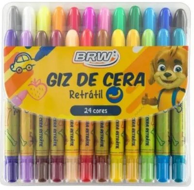 Giz de Cera Retrátil 24 cores
