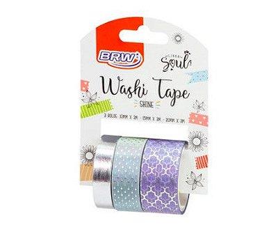 Washi Tape Shine Lilás