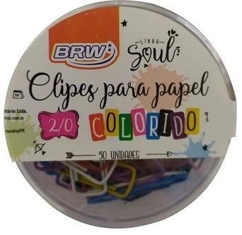 Clipes de Papel 2/0 Cores Vivas