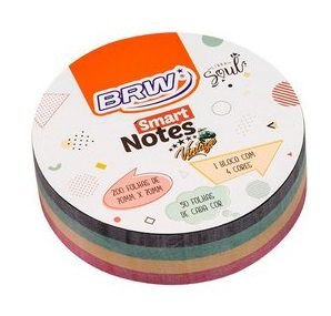 Bloco Smart Notes 200 Folhas 4 Cores 70x70mm