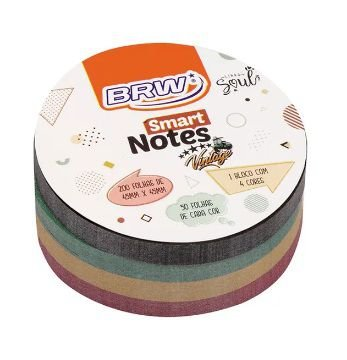 Bloco Smart Notes 200 Folhas 4 Cores 45x45mm