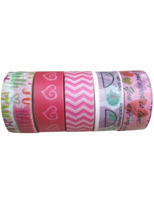 Kit Washi Tape Cute 5 rolos