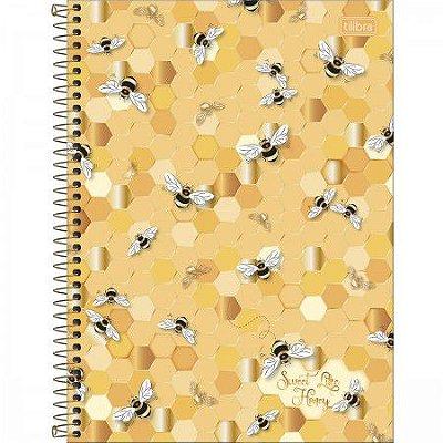 Caderno Universitário Abelha Sweet Like Honey 160 Folhas