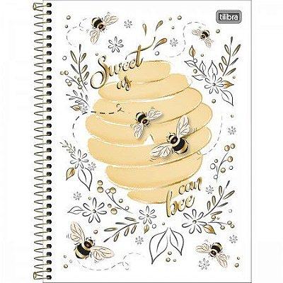 Caderno Universitário Abelha Sweet As Can Bee 160 Folhas