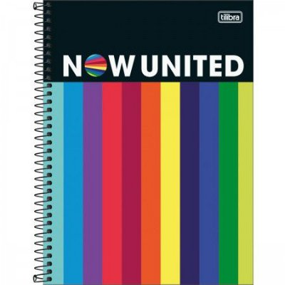 Caderno Now United Rainbow 80 Folhas