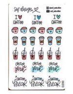 Adesivo Sophia Martins I Love Coffee