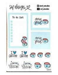 Adesivo Sophia Martins To Do List Coffee
