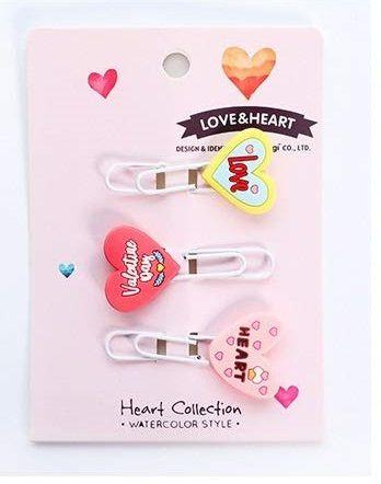 Clips Decorados 3 Unidades Coração
