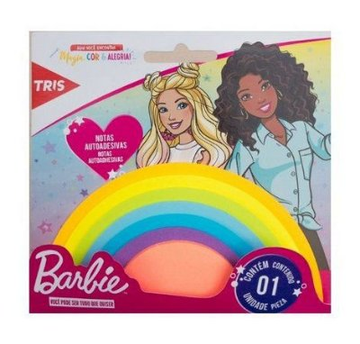 Bloco Post-it Rainbow Barbie