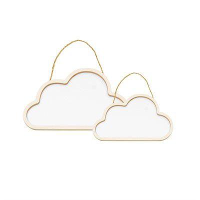 Conjunto Nuvens de Madeira Branco