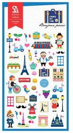Adesivos Bonjour Paris