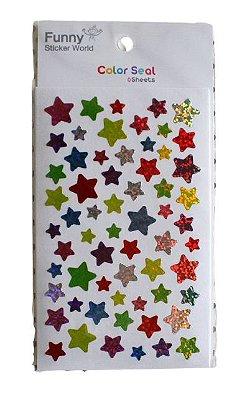 Adesivos Estrelas 6 Folhas