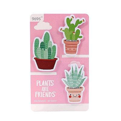Post It Cactus Rosa 60 Folhas
